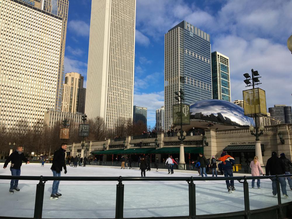 ice skating millennium park